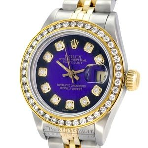 Rolex Lady Datejust Purple Diamond Watch 26mm